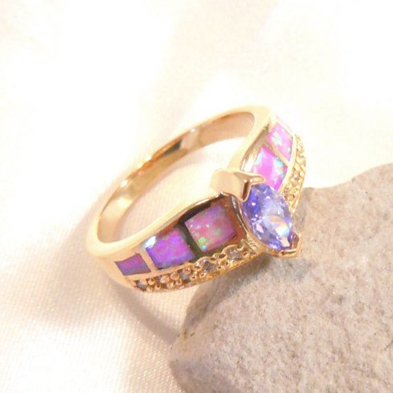 Size 9gold plated ringHandmade Luxuriant by HappyRing on Etsy