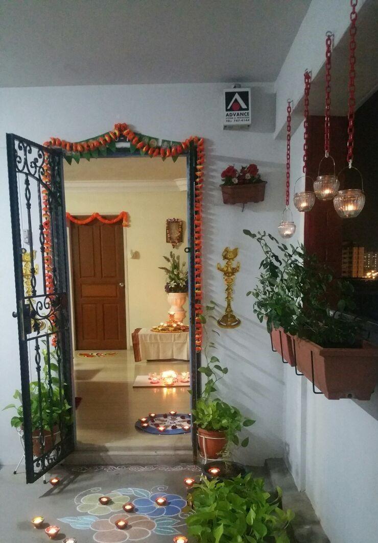 Diwali 2016 Diy Entryway Diwali Decorations Home Decor