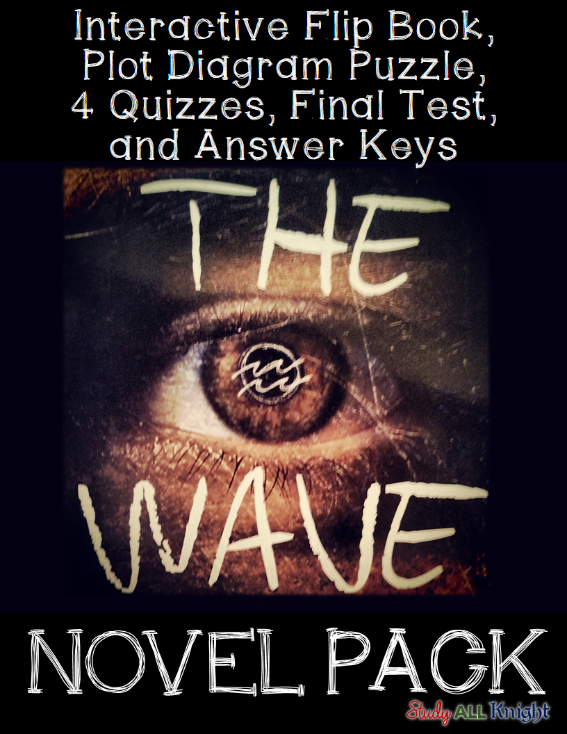 The wave by todd strasser novel study literature guide flip book ...