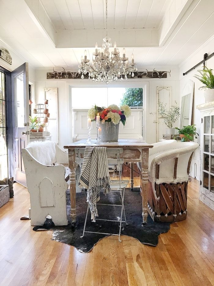 Small home design can be challenging for today's modern family. See how the lovely and creative Toni updates her home with loads of vintage charm!