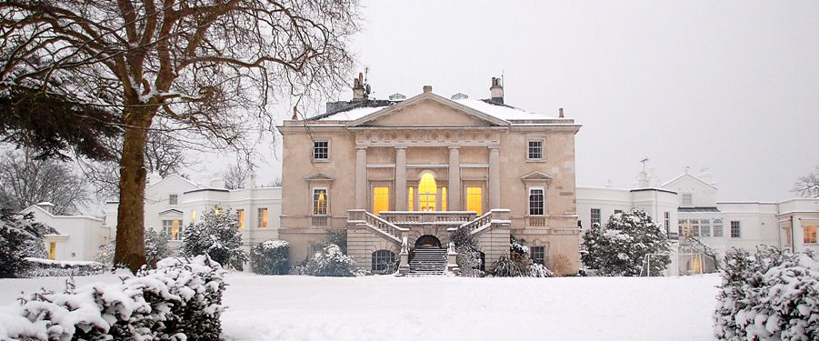 Snowy weather picture of the White Lodge in Richmond Park, England. It is  The