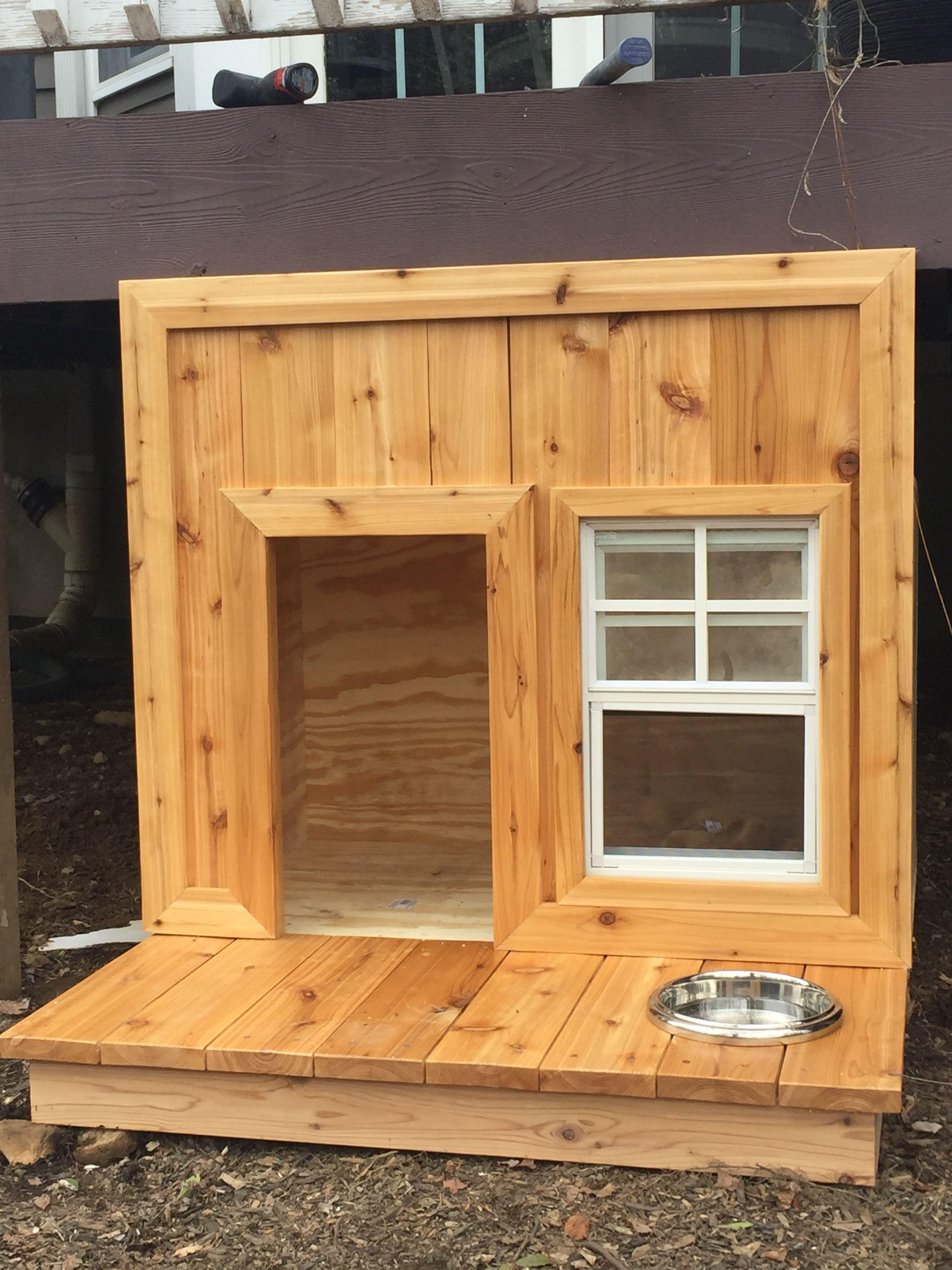 Cedar Dog House For Under The Deck Cedardoghouse Dog House Diy