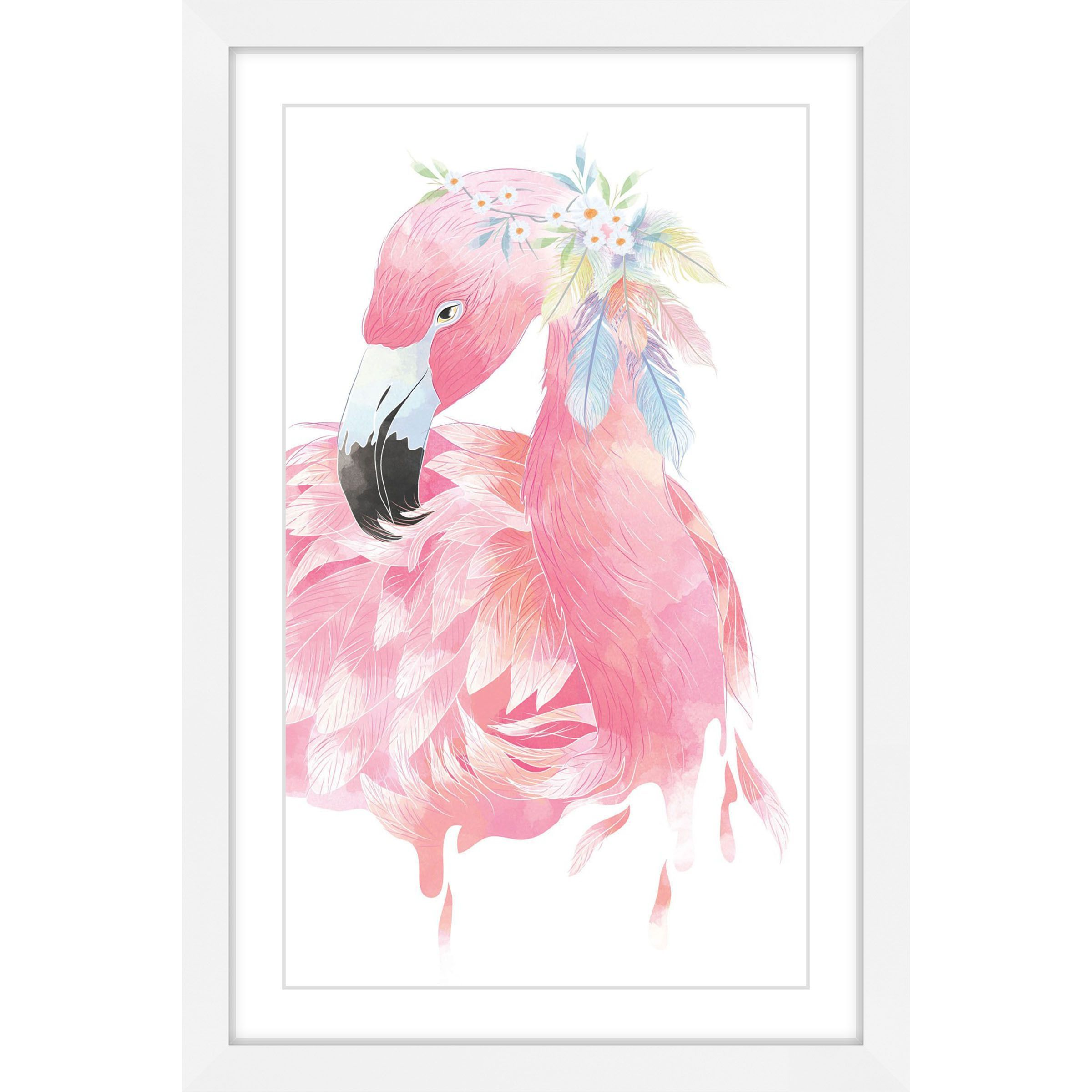 Marmont Hill - \'Pink Flamingo\' by Diana Alcala Framed Painting Print ...