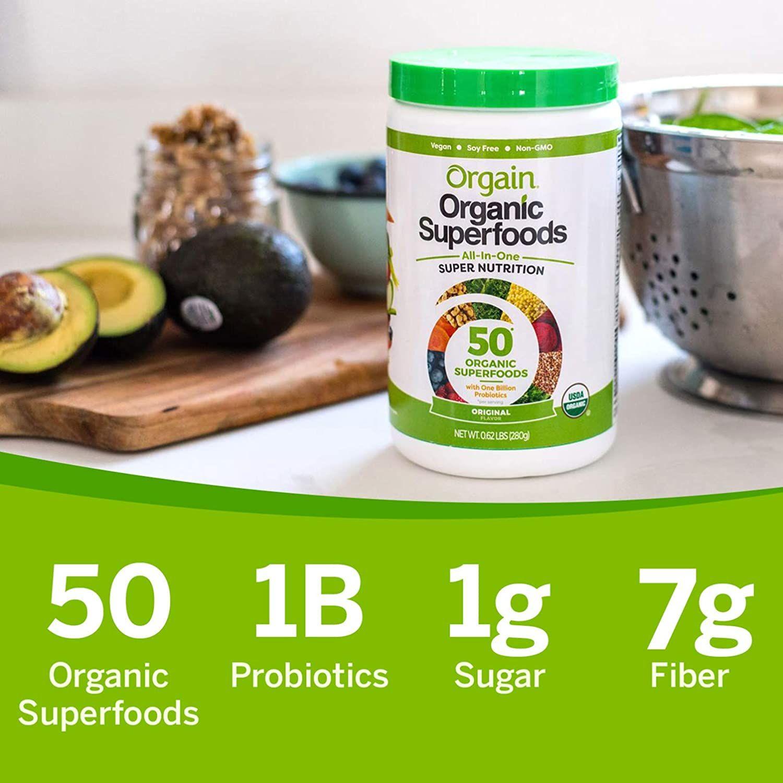 Orgain Organic Green Superfoods Powder In 2020 High Fiber Fruits Organic Superfoods Organic Berries