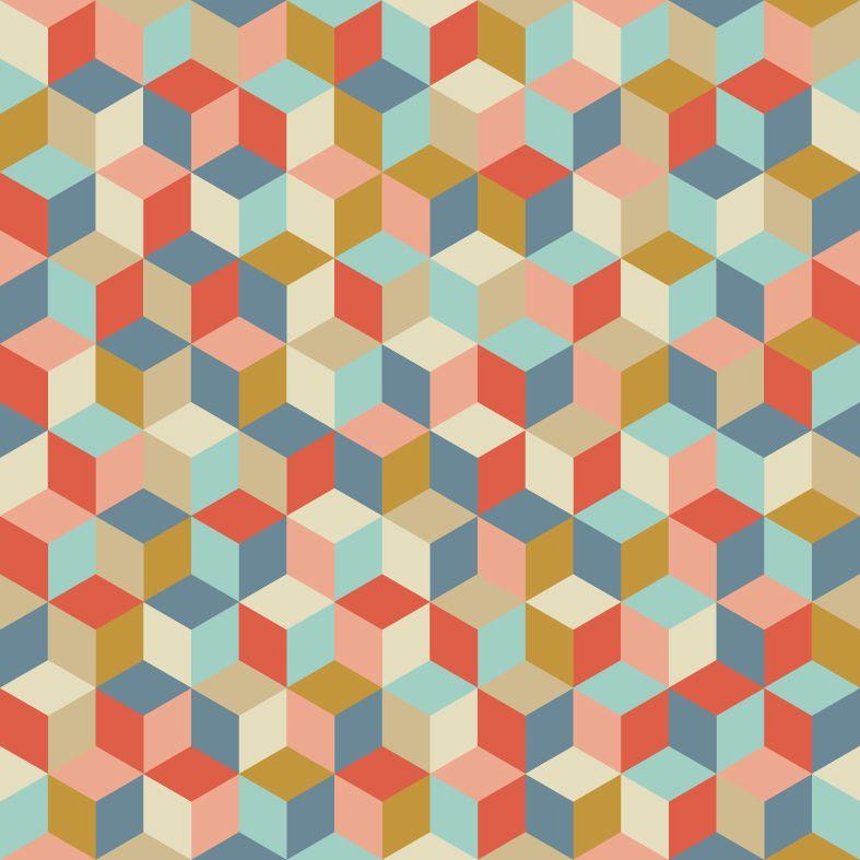 Motif personnel aef 2013 des cubes des couleurs top for Moquette motif geometrique