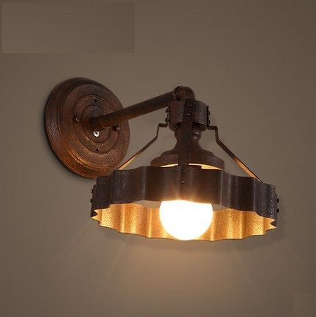 Loft Style Iron Wall Sconce Industrial Vintage LED Wall Light ...