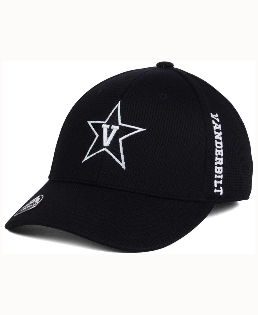 ce4d03cb3eb18 Top of the World Vanderbilt Commodores Black White Booster Cap ...
