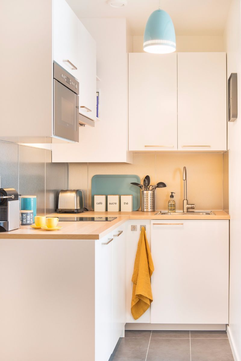 Very Small Studio Apartments Small And Colourful Studio Apartment In Montmartre Kitchens