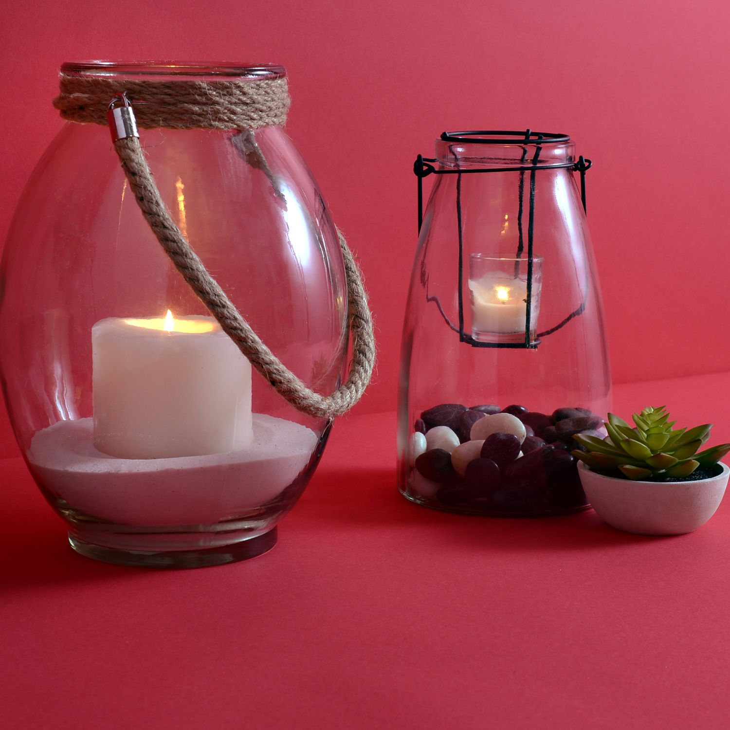 Set the mood with one of Kirkland's glass lanterns. Fill with greenery, sand, rocks or tea-candles and enjoy a relaxing evening.
