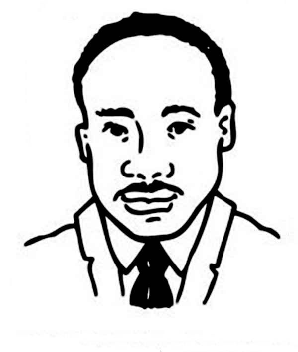 martin luther king jr a head caricature of martin luther king jr coloring page - Martin Luther King Jr Coloring Pages