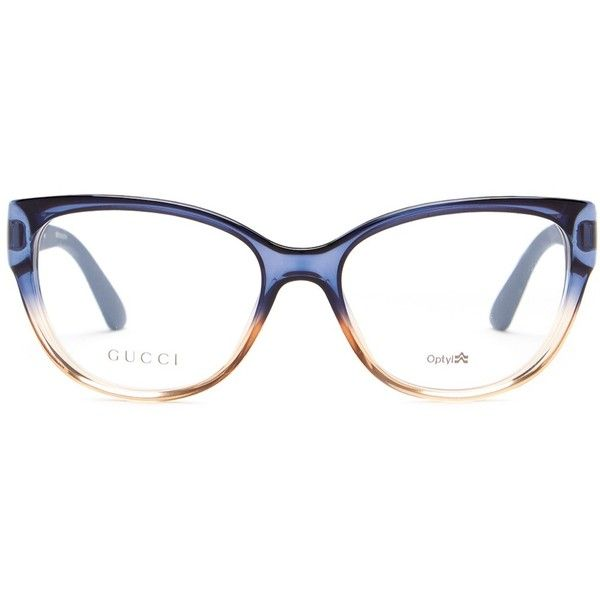 37da60e7292 GUCCI Women s Oversized Cat Eye Optical Frames ( 100) ❤ liked on Polyvore  featuring accessories