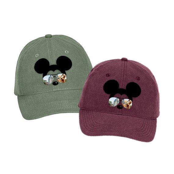 5a3c299c57a514 Disney Hat/ Mickey Mouse Sunglasses Hat/ Disney Cinderella's Castle With  Pluto Baseball Hat / Disney
