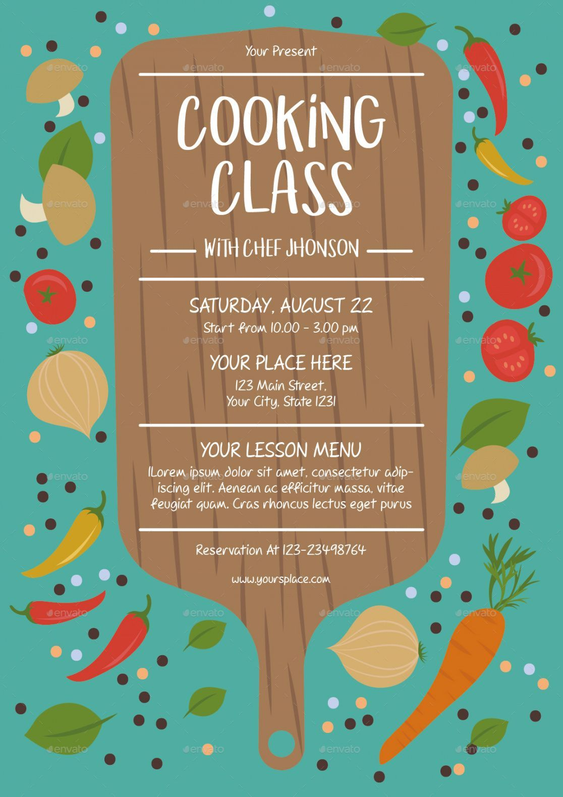 Cooking Lessons Flyer Template Cooking Classes Design Cooking Lessons Cooking