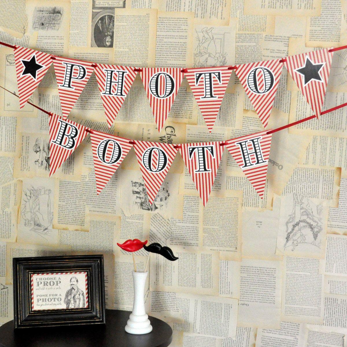 diy printables  photo booth banner $400 via etsy  vintage