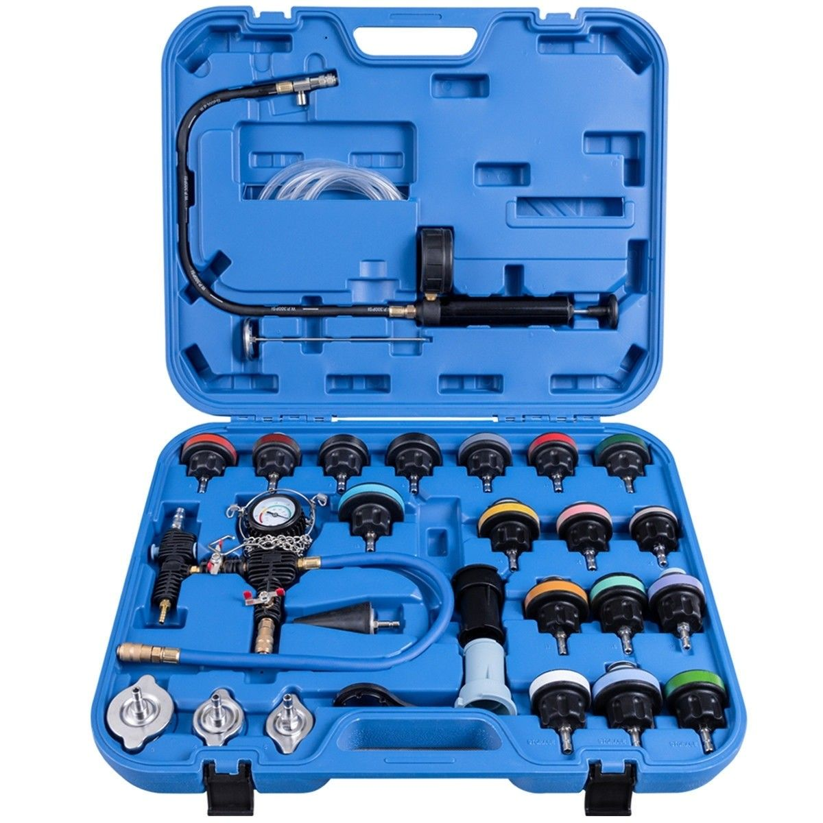 28 Pcs Pressure Tester Vacuum Type Cooling System Refill Kit