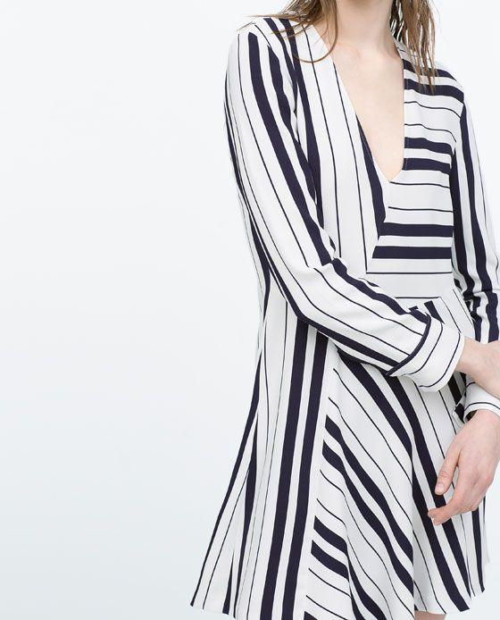 ZARA - WOMAN - DRESS WITH SEAMED SKIRT