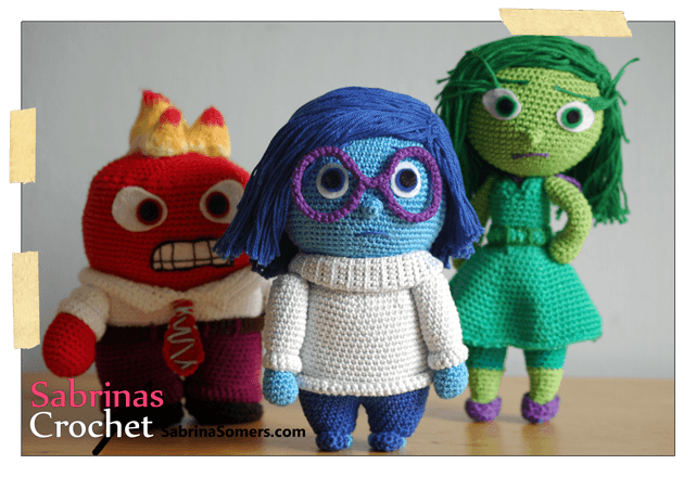 Amigurumis Personajes De Disney : Free crochet pattern sadness inside out haken ganchillo y