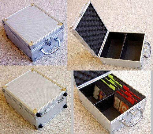 Trading Card Game Metal Storage Deck Box Magic Mtg Yugioh Wow Tcg