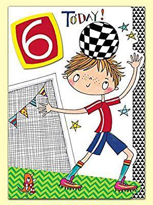 Rachel Ellen Boy Footballer Age 6 Birthday Card Amazoncouk Office