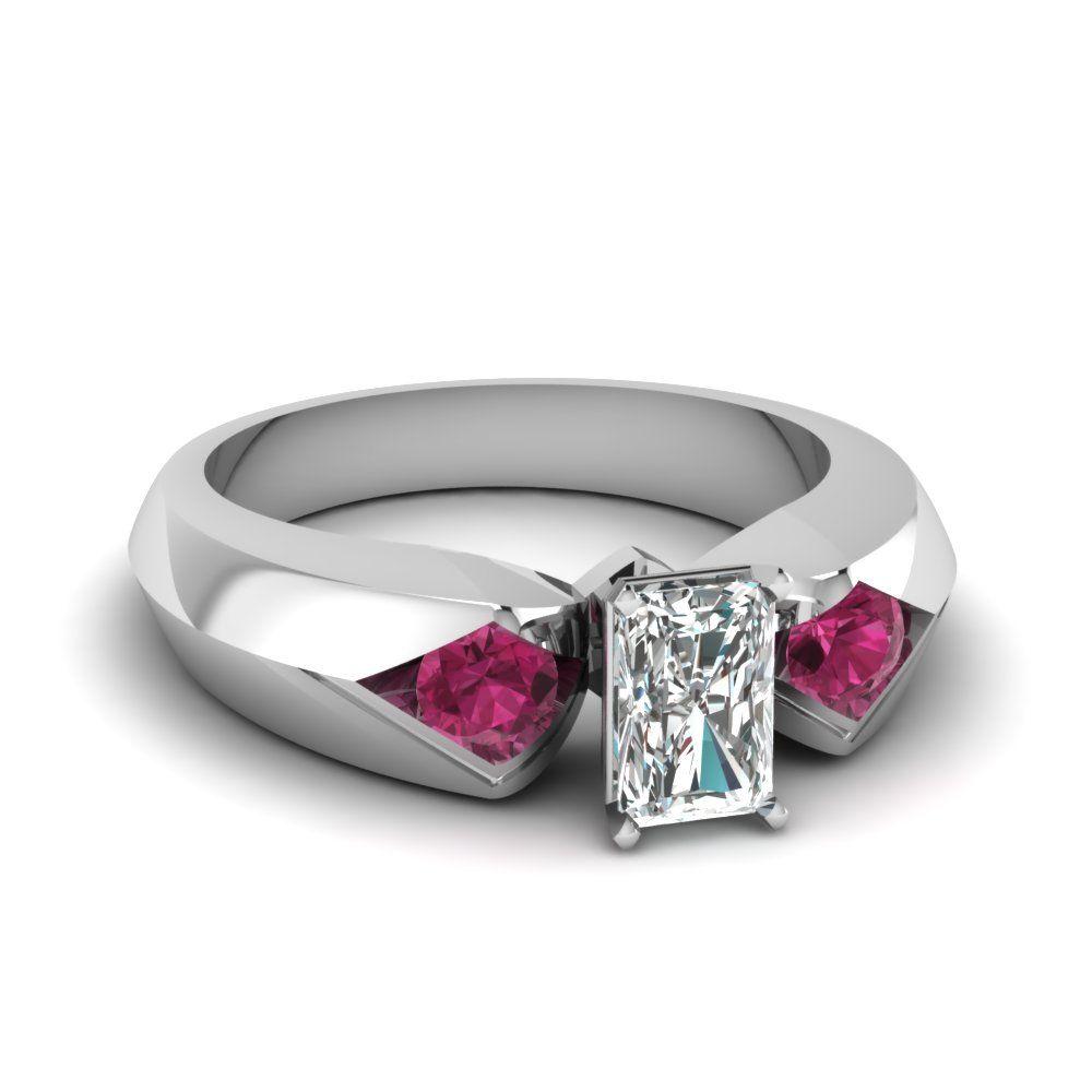 stone tension set diamond ring jewelry i love pinterest