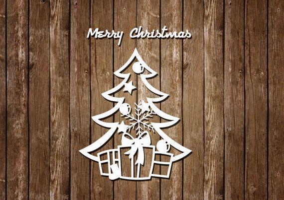 Telecharger Noel Papercut Modele En Pdf Et Svg Fichiers De Coupe Instantanees Gabarit De D Christmas Stencils Paper Christmas Decorations Paper Christmas Tree