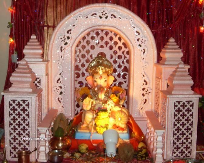 Ganesh Ji Ganapati Decoration Diy Arts And Crafts Thermocol Craft