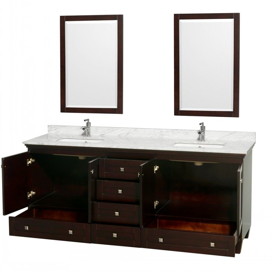 Double Sink Vany Acclaim Espresso 80 Inch Bathroom Vany