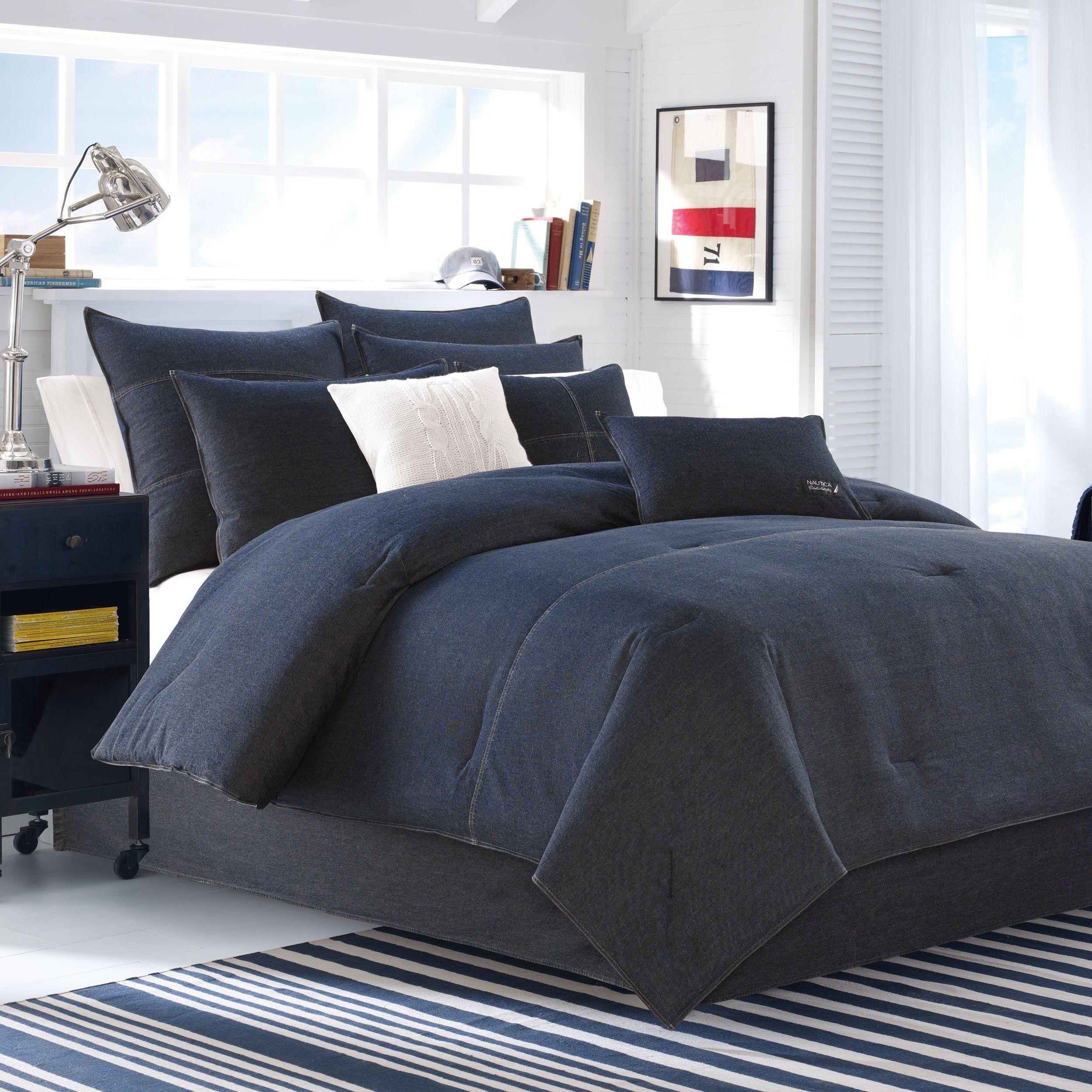 Nautica Seaward Denim Comforter Set Twin See This Great