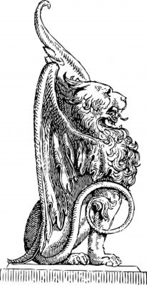 Detail Griffin 03 Medieval Tattoo Medieval Drawings Medieval Art