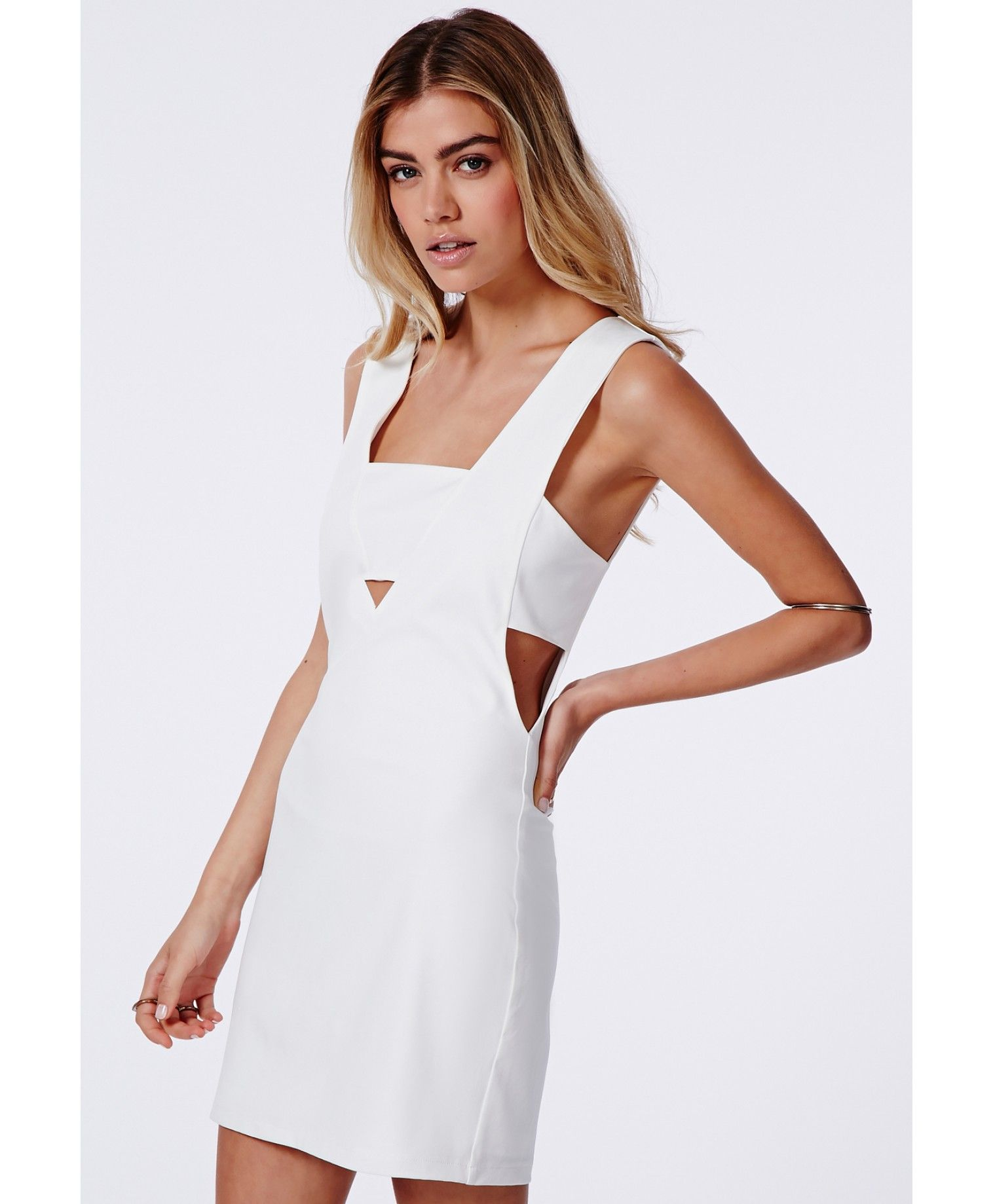 95635acf7db Fay Cut Out V Neck Bodycon Dress - Dresses - Missguided