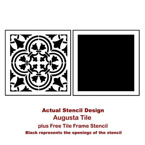 The Augusta Tile Stencil From Cutting Edge Stencils Is Based On Traditional Portuguese Azulejos Designs