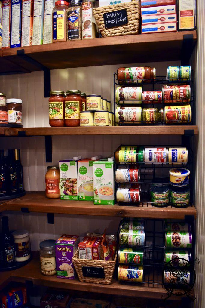 DIY Farmhouse Pantry Shelves #pantryshelving