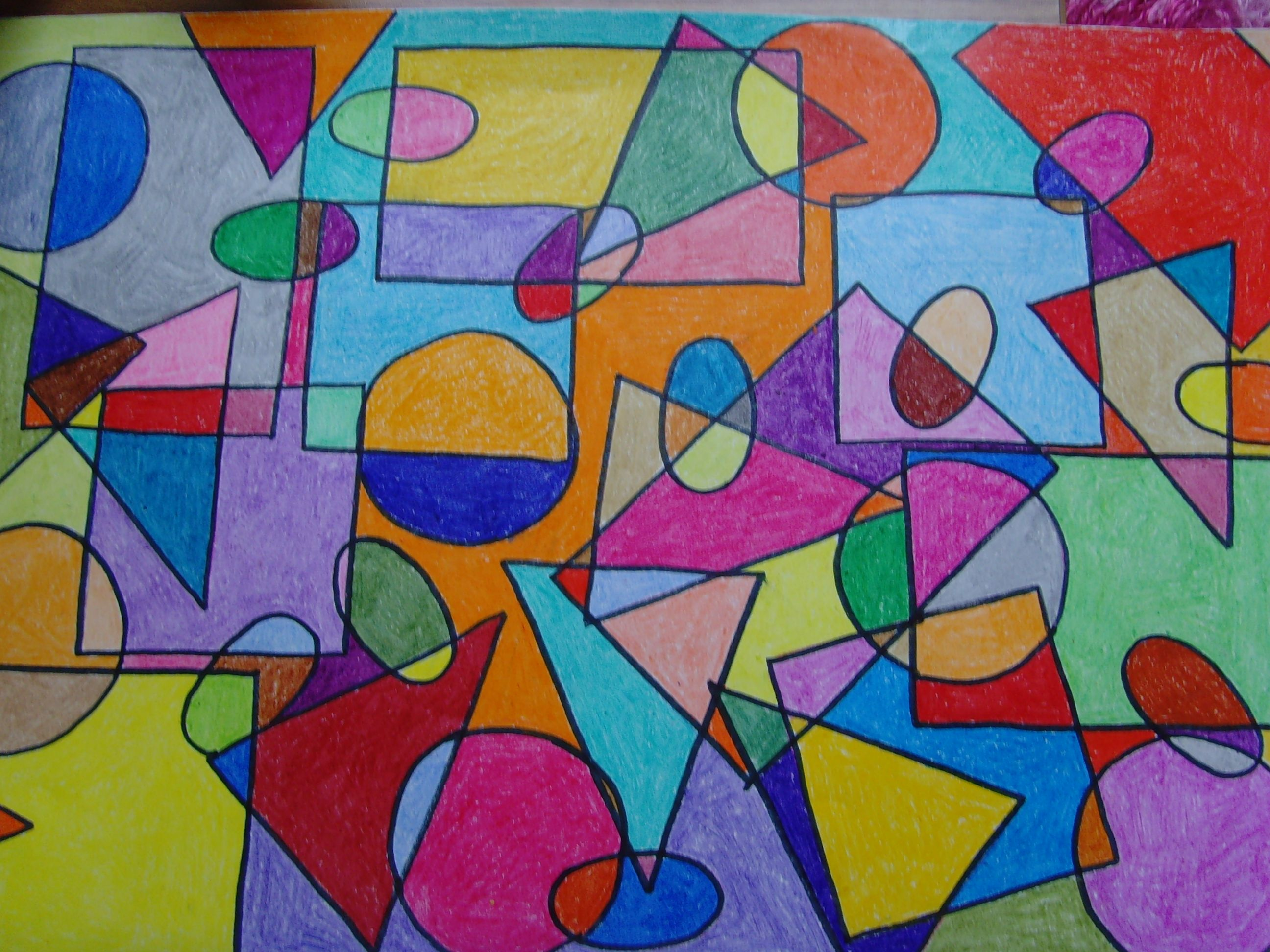 Line And Shape Art : Geometric shapes art google search forms and