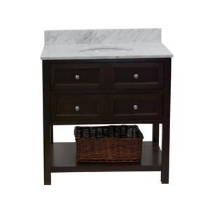 Photo of New Yorker 36-inch Vanity with Carrara Marble Top