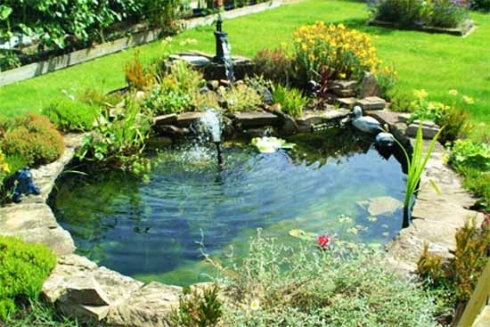 21 Garden Design Ideas, Small Ponds Turning Your Backyard ... on Small Pond Waterfall Ideas id=60908