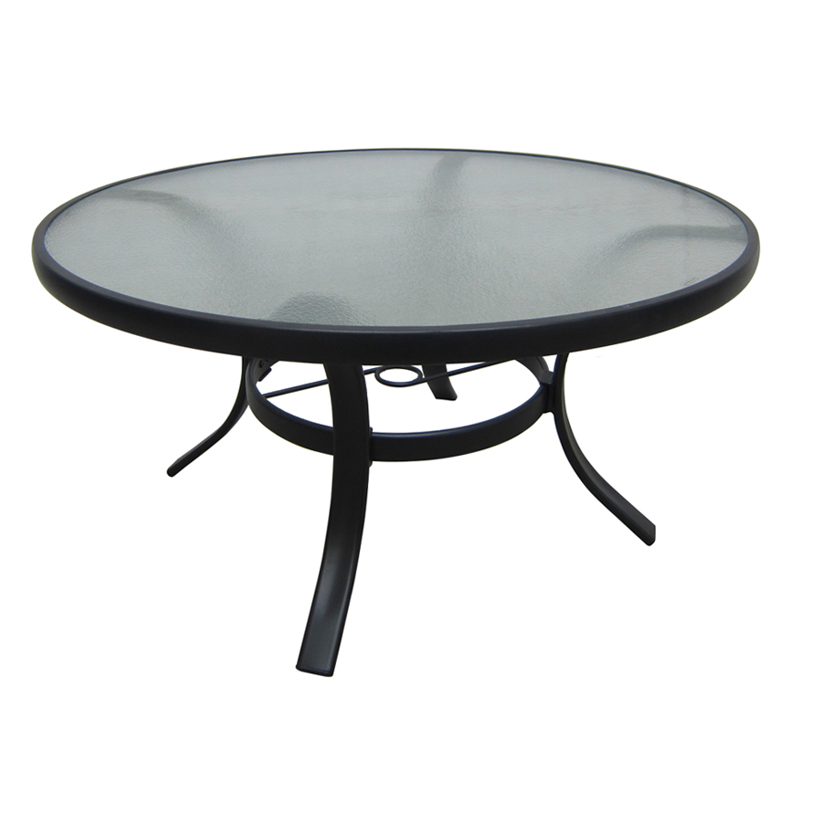 Shop Garden Treasures Lake Notterly 36 In Glass Top Steel Frame Round Patio Coffee Table At Lowes Com Glass Table Patio Table Glass Dining Table [ 900 x 900 Pixel ]
