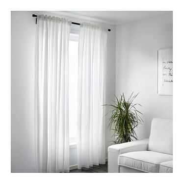vivan curtains, 1 pair white ikea