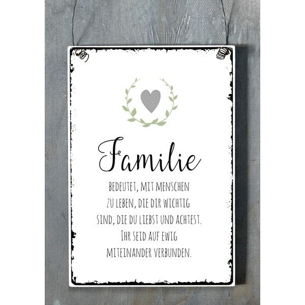 xl 26x17cm shabby vintage schild familie shabby chic decor pinterest vintage schilder. Black Bedroom Furniture Sets. Home Design Ideas