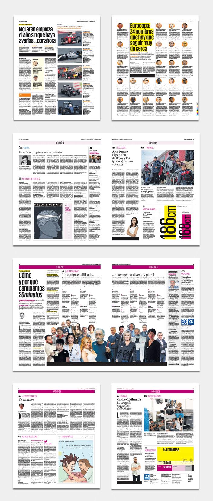 proyecto grfico rediseo y nueva identidad grfica del diario gratuito espaol 20 minutos