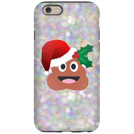 santa christmas poop emoji iphone 6 tough case