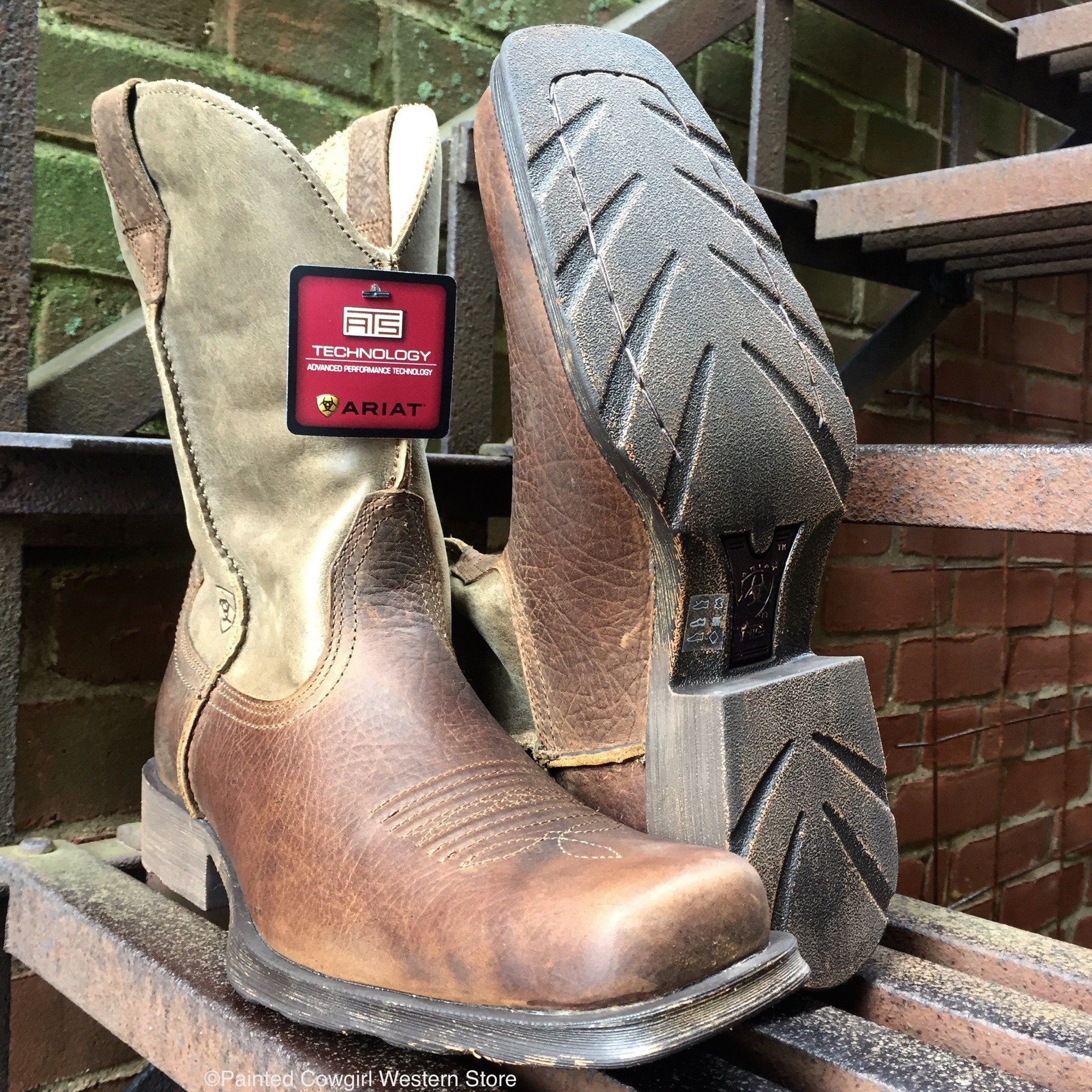 ARIAT Mens Rambler Square Toe Western Boot