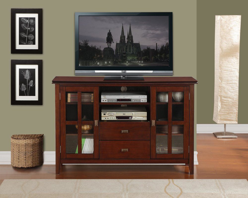 Gosport Solid Wood Tv Stand For Tvs Up To 65 In 2020 Tall Corner Tv Stand Tv Media Stands Tall Tv Cabinet