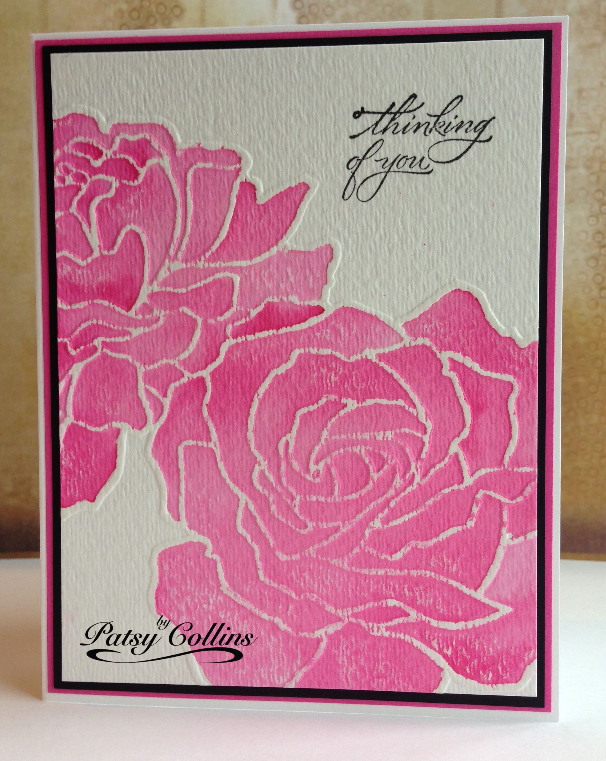 Dry Emboss Watercolor Paper In Sizzix Stampin Up Manhattan