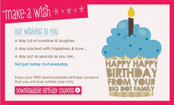 Printable Make a Wish Birthday Coupons -♥- Gifts Galore - free lunch coupon template