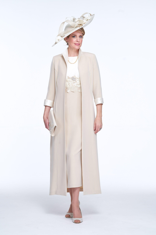 763e05cc5fb Elegant Coat and Dress with Guipure Detail