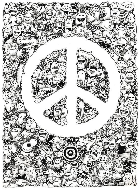 Printable Drawings For Coloring Peace Doodle Art Print Doodle art drawing Doodle art