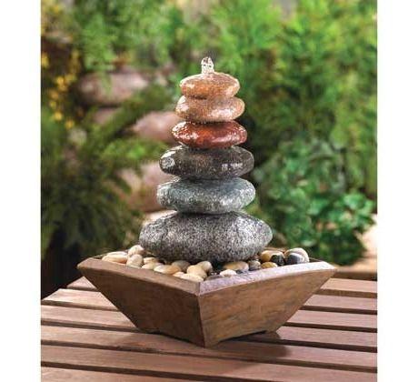 Zen Stacked Stone Fountain Free Shipping 50 00 Stone Fountains Tabletop Fountain Fountains Outdoor