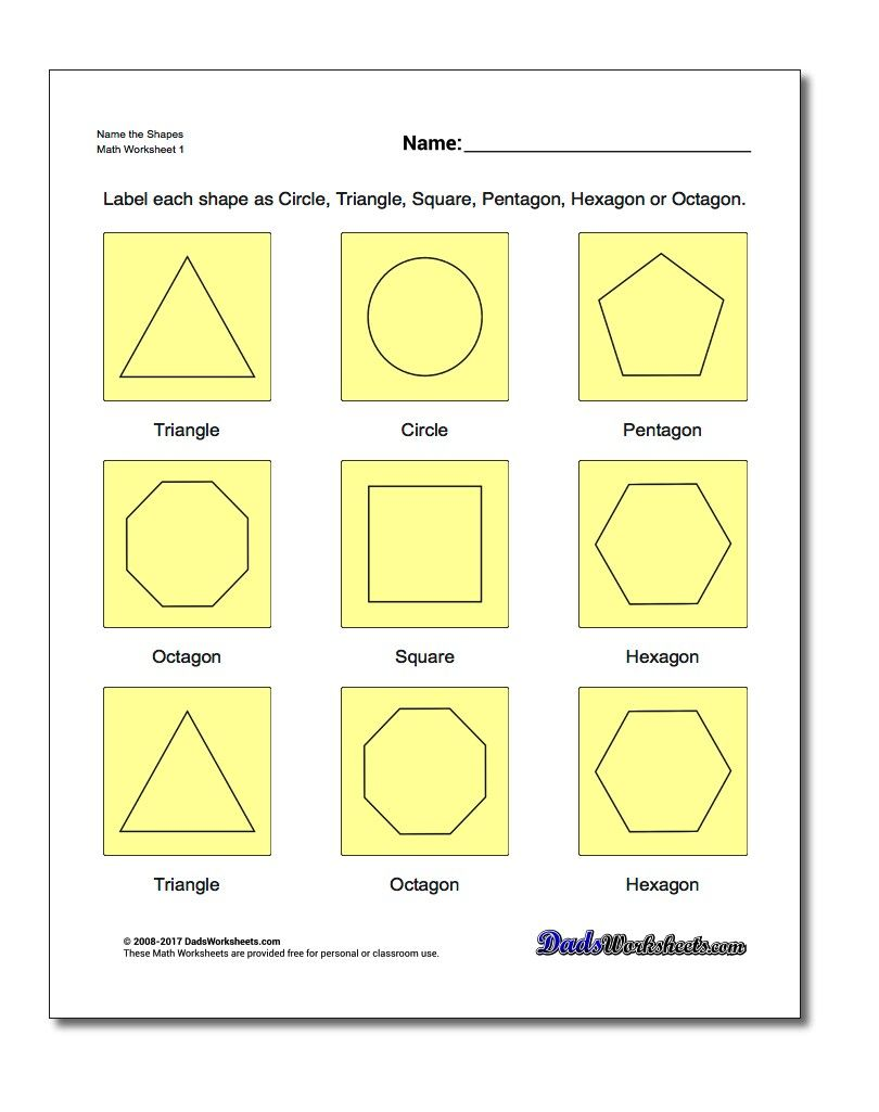 Name The Shapes Worksheet Basic Geometry Worksheet Basic Geometry Geometry Worksheets Mathematics Worksheets Grade math geometry worksheets