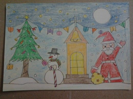 How To Make Christmas Greeting Card Step By Step For Kids