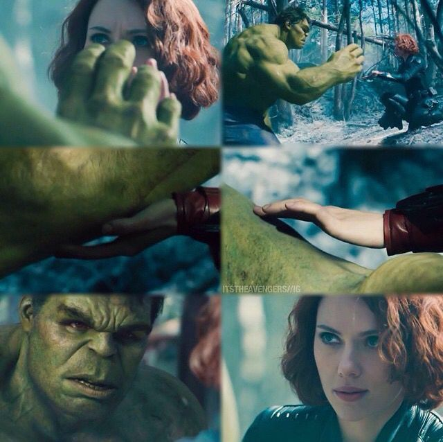 Black Widow sure knows how to make the Hulk calm down
